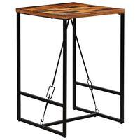 vidaXL Barska miza iz trdnega predelanega lesa 70x70x106 cm