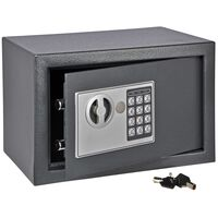 HI Sef z električno ključavnico temno siv 31x20x20 cm