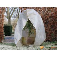 Nature Zimska koprena z zadrgo 70 g/m² bež 2x2,5 m