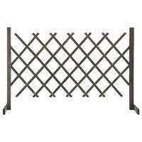 vidaXL Vrtna mrežasta ograja siva 120x90 cm trden les jelke
