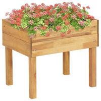 vidaXL Dvignjeno vrtno cvetlično korito 50x40x45 cm trdna akacija