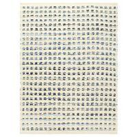 vidaXL Preproga iz džinsa in volne 120x170 cm modra/bela