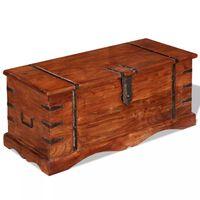 vidaXL Skrinja za shranjevanje iz trdnega lesa