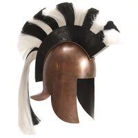 vidaXL Grška bojevniška čelada starinska kopija LARP bakreno jeklo