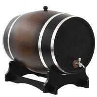 vidaXL Sod za vino s pipo trdna borovina 35 L