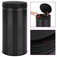 vidaXL Avtomatski smetnjak senzorski 70 L karbonsko jeklo črn