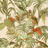 DUTCH WALLCOVERINGS Tapeta Bird-of-Paradise zelena
