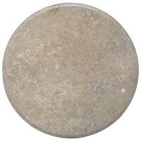 vidaXL Mizna plošča siva Ø 70x2,5 cm marmor