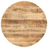 vidaXL Mizna plošča iz trdnega mangovega lesa okrogla 15-16 mm 80 cm