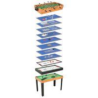 vidaXL Večnamenska igralna miza 15 v 1 121x61x82 cm javor