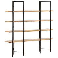 vidaXL Knjižna omara 4-nadstropna 160x35x160 cm trden mangov les