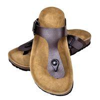 vidaXL Ženski bio sandali iz plute japonke rjave barve 41