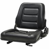vidaXL Sedež za viličar in traktor s prilagodljivim naslonjalom črn