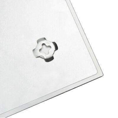 vidaXL Stenska magnetna tabla iz stekla 50x50 cm