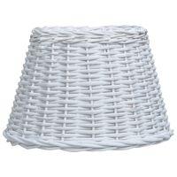 vidaXL Senčilo za svetilko pleteno 38x23 cm bele barve