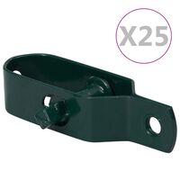vidaXL Napenjalci žice 25 kosov 100 mm jeklo zelene barve