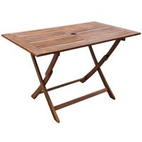 vidaXL Vrtna miza 120x70x75 cm trden akacijev les
