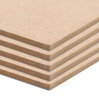 vidaXL MDF plošče kvadratne 4 kosi 60x60 cm 12 mm