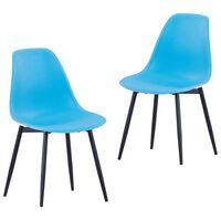 vidaXL Jedilni stoli 2 kosa modri PP