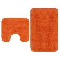 vidaXL Kopalniške preproge 2 kosa blago oranžne barve