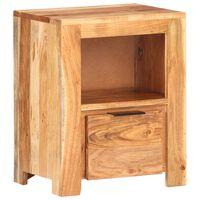 vidaXL Nočna omarica 40x30x50 cm trden akacijev les