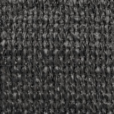 vidaXL Senčno Jadro HDPE Trikotno 3,6x3,6x3,6 m Antracitno
