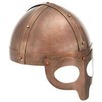 vidaXL Vikinška čelada starinska kopija LARP bakreno jeklo