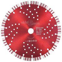 vidaXL Diamantni rezalni disk s turbo in luknjami iz jekla 230 mm