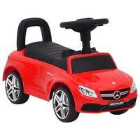 vidaXL Otroški poganjalec avto Mercedes-Benz C63 rdeč