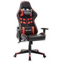 vidaXL Gaming stol črno in rdeče umetno usnje