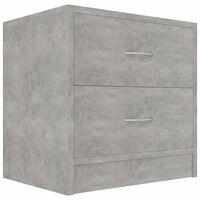vidaXL Nočna omarica betonsko siva 40x30x40 cm iverna plošča