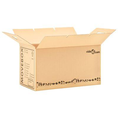 vidaXL Kartonske škatle XXL 80 kosov 60x33x34 cm