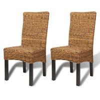 vidaXL Jedilni stoli 2 kosa abaka in trden mangov les