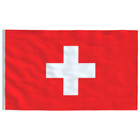 vidaXL Švicarska zastava 90x150 cm