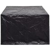 vidaXL Pokrivalo za vrtno pohištvo z 8 obročki 113x113x73 cm