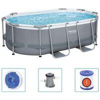 Bestway Prostostoječi bazen Power Steel ovalen 305x200x84 cm