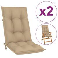 vidaXL Blazine za vrtne stole 2 kosa bež 120x50x7 cm