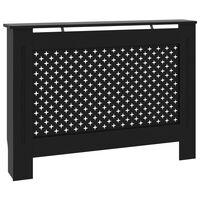 vidaXL Pokrov za radiator črn 112x19x81 cm mediapan