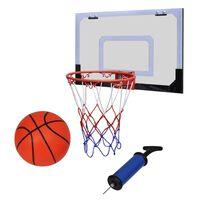 Notranji Mini Košarkaški Obroč Set z Žogo in Tlačilko