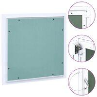 vidaXL Revizijska vrata z alu okvirjem in mavčno ploščo 200x200 mm