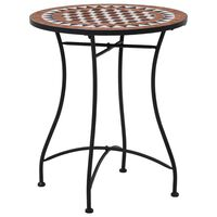 vidaXL Bistro mizica z mozaikom rjava 60 cm keramika
