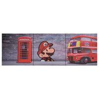 vidaXL Slika na platnu London večbarvna 120x40 cm