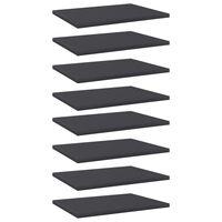 vidaXL Dodatne police za omaro 8 kosov sive 40x30x1,5 cm iverna plošča