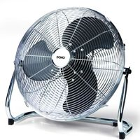 DOMO Stoječi ventilator 40 cm krom DO8131