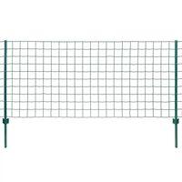 vidaXL Evro ograja iz jekla 20x0,8 m zelena