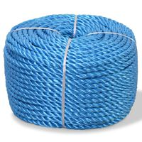 vidaXL Zvita vrv polipropilen 8 mm 200 m modra
