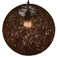 vidaXL Viseča svetilka rjava krogla 35 cm E27
