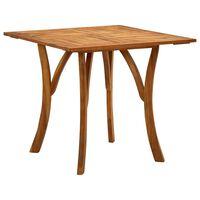 vidaXL Vrtna miza 201,5x100x75 cm trden akacijev les