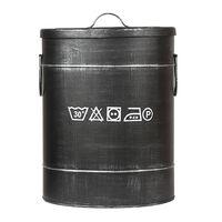 LABEL51 Koš za perilo 32x32x43 cm M antično črn