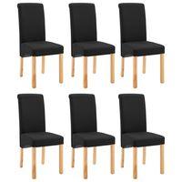 vidaXL Jedilni stoli 6 kosov črno blago